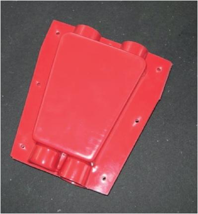 Pieza de protección de conectores por cuña